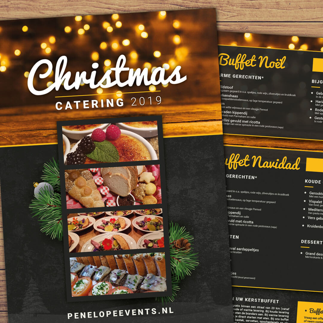 catering-folder ontwerp