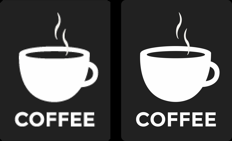 Verschil pixelbestand en vectorbestand